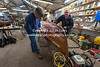 Staff at the Keswick Boatyard repair the wooden launches November 2012
